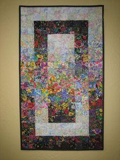 Small Window Garden Art Quilt Wall Hanging via Etsy