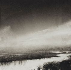 Wendy Orville(American) Nisqually Mist Nisqually Flood Nisqually River monotype via