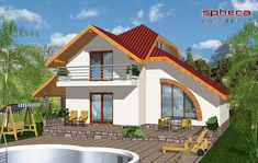 proiecte de case cu semineu House plans with fireplaces 12 Luxury House Plans, Indian Homes, Urban Farming, Design Case, Sweet Home, Cottage, How To Plan, Mansions, House Styles