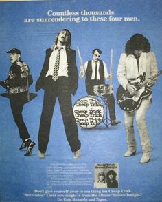 Cheap Trick Promotional Ad https://www.facebook.com/FromTheWaybackMachine