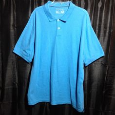 Saddlebred Perfect Polo Never worn Pretty Blue 60% cotton 40% polyester nice shirt Saddlebred Tops