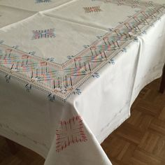 Embroidery tablecloth