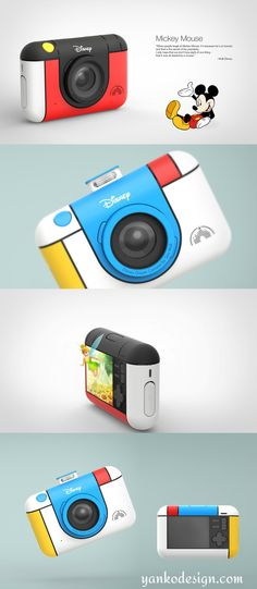 The Disney camera by Soo Mok uses technology to remove that paranoia. Giving the child a camera gives them a certain confidence because when you look at the world through a lens, it doesn't seem as life-like, as real, and as scary. Read more at www.yankodesign.com