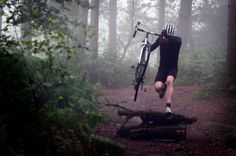 A cx bike might be lighter for carrying over obstacles