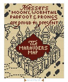 Most up-to-date Absolutely Free Cross Stitch harry potter Popular Cross-stitch is a simple sort of needlework, well suited on the cloth accessible to stitchers today. Pixel Art Harry Potter, Harry Potter Perler Beads, Harry Potter Cross Stitch Pattern, Harry Potter Crochet, Harry Potter Marauders Map, Theme Harry Potter, Beaded Cross Stitch, Cross Stitch Charts, Counted Cross Stitch Patterns