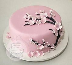 22 Ideas Cake Flower Decorating Cherry Blossoms For 2019 Fancy Cakes, Cute Cakes, Pretty Cakes, Mini Cakes, Beautiful Cakes, Amazing Cakes, Cherry Blossom Cake, Cherry Blossoms, Fun Cupcakes