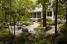 Shade garden designed by Hoerr Schaudt Landscape Architects