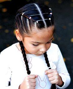 Görüntünün olası içeriği: 1 kişi, çocuk, yakın çekim ve açık hava #hair color crazy Cute Little Girl Hairstyles, Little Girl Braids, Baby Girl Hairstyles, Easy Hairstyles For Long Hair, Girls Braids, Box Braids Hairstyles, Hairstyles For Toddlers, Pretty Hairstyles, Princess Hairstyles