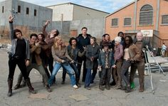 Cast of The Walking Dead celebrating the End of Season 3