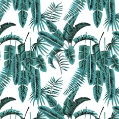 Banana Palms by Grace Garrett, with Teal colourway - by Grace Garrett.