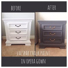 Created By Buildingacharmedlife Tried Out Valspar Chalkyfinishpaint On Our Master Bedroom Nightstands