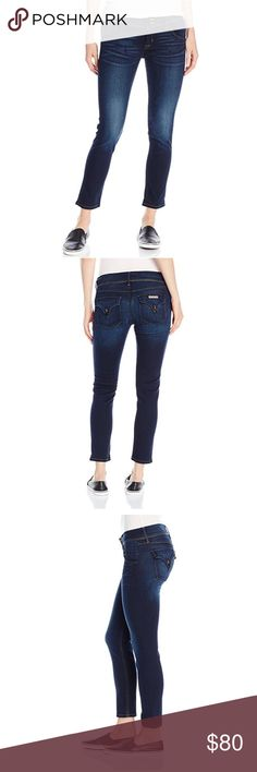 Hudson Collin Skinny Crop The ankle length collin skinny is an iconic favorite, slim through the waist and hips, with a contoured waistband and back flap pockets for an extra lift. These jeans have never been worn, although they do have a very minor flaw on the back right leg as pictured. Hudson Jeans Jeans Ankle & Cropped