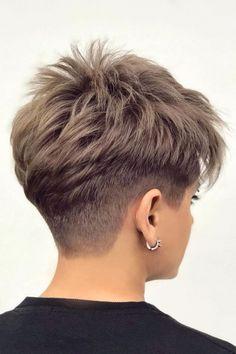 Short Hair Back, Funky Short Hair, Short Choppy Hair, Short Hair Undercut, Super Short Hair, Short Brown Hair, Short Hair With Layers, Short Hair Cuts For Women, Undercut Women