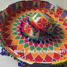 Diy Diwali Decorations, Wedding Decorations, Janmashtami Decoration, Full Hand Mehndi Designs, Diwali Diy, Handicraft, Needlework, New Baby Products, Diy And Crafts
