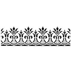 Международный университет декупажа Border Pattern, Border Design, Pattern Art, Stencils, Stencil Painting, Painting Templates, Painting Patterns, Textile Patterns, Textile Prints