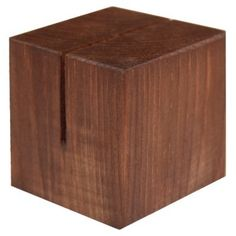 Wooden Menu Cubes with Slot to Hold Various Sized Menus. Stained Dark Oak for a touch fo Rustic Charm. Wooden Menu Holers Online or Call 01353 665141 Menu Holders, Rustic Charm, Solid Wood, Cube, Dark, Design, Home Decor, Decoration Home, Room Decor