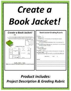 Book Report - Create a Book Jacket Cover  This book report can be used after completing any fictional novel study. Students must include the following on their book jacket: character summary, author biography, illustrations, book summary, and more!This book report project is an equal mix of writing and creativity that students love!