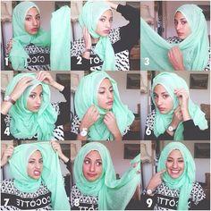 Hejjab today step by step – Hijab Fashion 2020 Hijab Style Tutorial, Scarf Tutorial, Turban Hijab, Stylish Hijab, Hijab Chic, Islamic Fashion, Muslim Fashion, Muslim Girls, Muslim Women