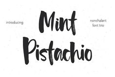 Mint Pistachio Font Trio by MilkLetters on @creativemarket