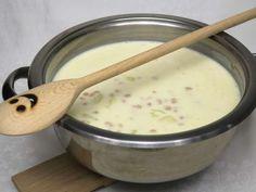 Biela fazuľová polievka • Recept | svetvomne.sk Cheeseburger Chowder, Fondue, Bab, Food And Drink, Ethnic Recipes, Soups, Easy Meals, Soup