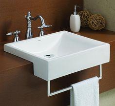 Cheviot 1649W Pacific SemiCassa Self Rimming Bathroom Sink   ATG Stores