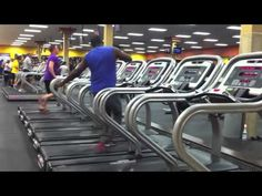 Treadmill Dance - Wow. (I can't even walk on a treadmill without holding on to the railings.)