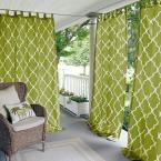 Elrene Home Fashions Corado 50 in. W x 95 in. L Indoor/Outdoor Velcro Tab Top Window Curtain Grass (Green) Indoor Outdoor, Outdoor Rooms, Outdoor Living, Outdoor Decor, Back Patio, Backyard Patio, Outdoor Curtains, Porch Curtains, Shower Curtains