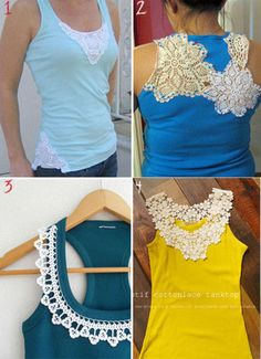 Diy Shirt Ideas Diy t shirt refashion - Some of these ideas have promise.