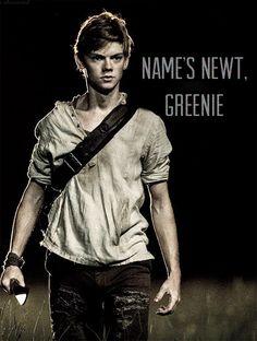"The Maze Runner Newt. ""Name's Newt, Greenie."""