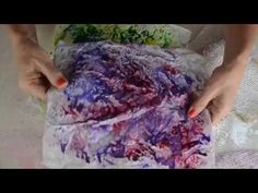 Snail Mail: Brusho Ink, Spray Starch, and Deli Paper - YouTube