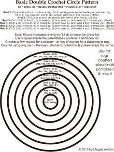 Crochet in Rounds - Chart 4U // hf