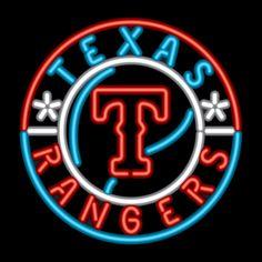 Texas Rangers Neon Sign