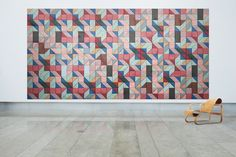 Acoustic Wood Wool Tiles BAUX ACOUSTIC TRIANGLE by BAUX design Form Us With Love