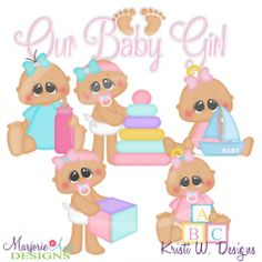 Our Baby Girl SVG Cutting Files Includes Clipart