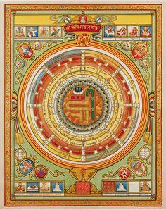Art Of Enlightenment 33 Rishimandala Yantra by HereNow4U, via Flickr Kundalini Mantra, Shri Yantra, Calligraphy Types, Jain Temple, Vedic Mantras, Spiritual Symbols, India Art, Hindu Deities, Indian Artist