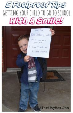 Tips for the first day of school,  5 foolproof tips getting your little one to go to school with a smile, parenting tips