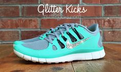 Bling Nike Free 5.0 Glitter Kicks With Swarovski Crystal Rhinestones - Bling Nikes, Blinged Nikes, Bling Shoes, Blinged Out Nikes by ShopGlitterKicks on Etsy https://www.etsy.com/listing/210301755/bling-nike-free-50-glitter-kicks-with