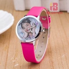 New fashion brand women Leather strap Watches Lovely Violetta Watch For ladies girl student Quartz Dress watches Montre Femme