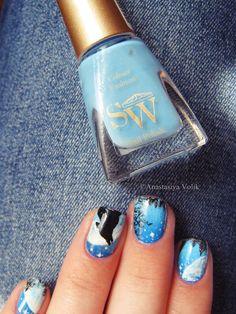 #design #Ногти #nail #nails #nailart #Маникюр #Идея_для_маникюра #луна #волк #воющийволк #волкнаногтях #волкманикюр #moon #wolf #howlingwolf #wolfonthenails #wolfmanicure