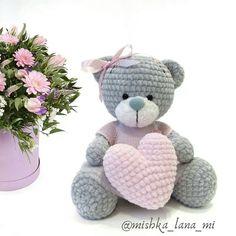 Best 12 Amigurumi «Teddy bear in pajamas Crochet Pig, Crochet Animal Amigurumi, Crochet Teddy, Crochet Animal Patterns, Easter Crochet, Crochet Dolls, Baby Patterns, Knitted Stuffed Animals, Baby Lovey