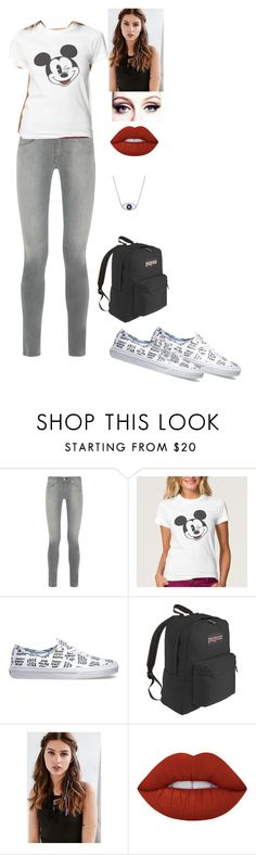 """""""Back To School"""" by jazpreet on Polyvore featuring rag & bone, Vans, JanSport, REGALROSE and Lime Crime"""