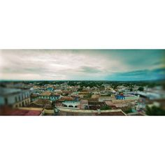 Elevated view of townscape against cloudy sky Trinidad Sancti Spiritus Cuba Canvas Art - Panoramic Images (6 x 15)