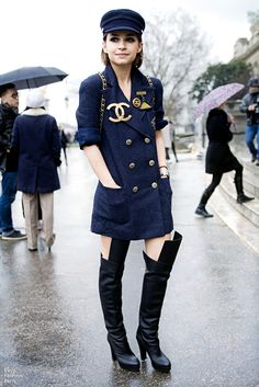 Miroslava! Never saw the boots before! Chanel soldier