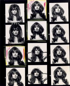 Avedon contact sheets for The Shrimp
