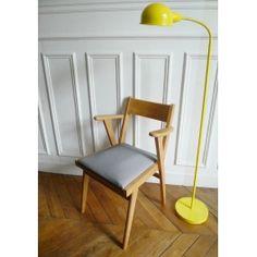 fauteuil, vintage, pied de poule, intérieur vintage