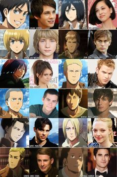 Theses people need to play in the AOT movie. Instead of the people who don't look anything like the people in the movie!!