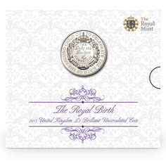 The Royal Birth 2015 United Kingdom Brilliant Uncirculated Coin Baby George, King George, Duchess Of York, Duke And Duchess, Royal Princess, Princess Charlotte, Uncirculated Coins, Royal Babies, Queen Elizabeth Ii