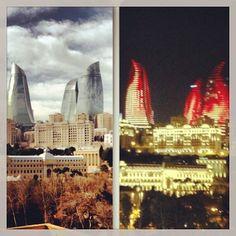 ▃▃▃▃▃▃▃▃▃▃▃▃▃▃▃▃▃▃▃▃  ✽ Hotel: Fairmont Flame Towers  ✽ Location: Baku, Azerbaijan  ✽ Photo Credit: @omar_alzarooni  ▃▃▃▃▃▃▃▃▃▃▃▃▃▃▃▃▃▃▃▃ - @Beautiful Hotels- #webstagram