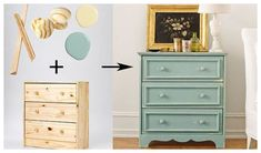 IKEA Dresser: One Piece, Five Ways - - A plain flat-pack dresser gets a vintage-hardware-fueled redo. Painted Furniture, Diy Furniture, Coral Furniture, Dresser Furniture, Furniture Websites, Inexpensive Furniture, House Furniture, Furniture Companies, Furniture Projects