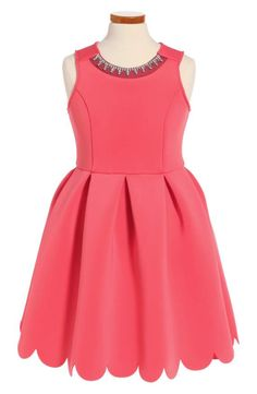 fd2fc68beacb David Charles Embellished Mesh Dress (Big Girls)